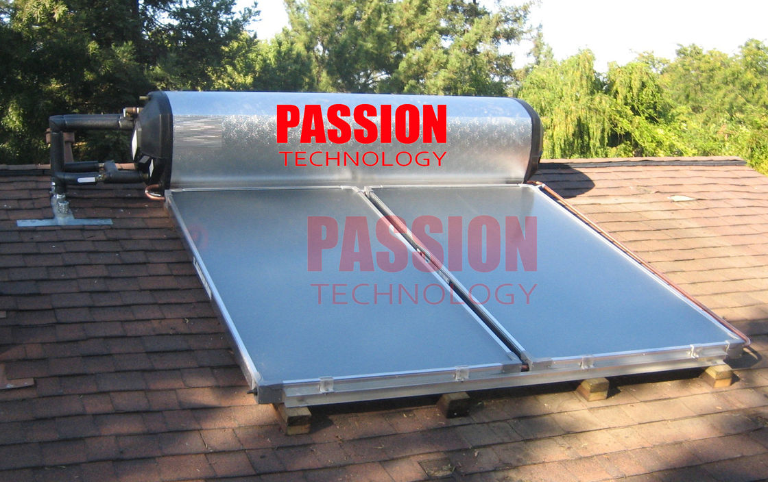 300L Integrated Pressure Solar Water Heater with Blue Titanium Flat Collector
