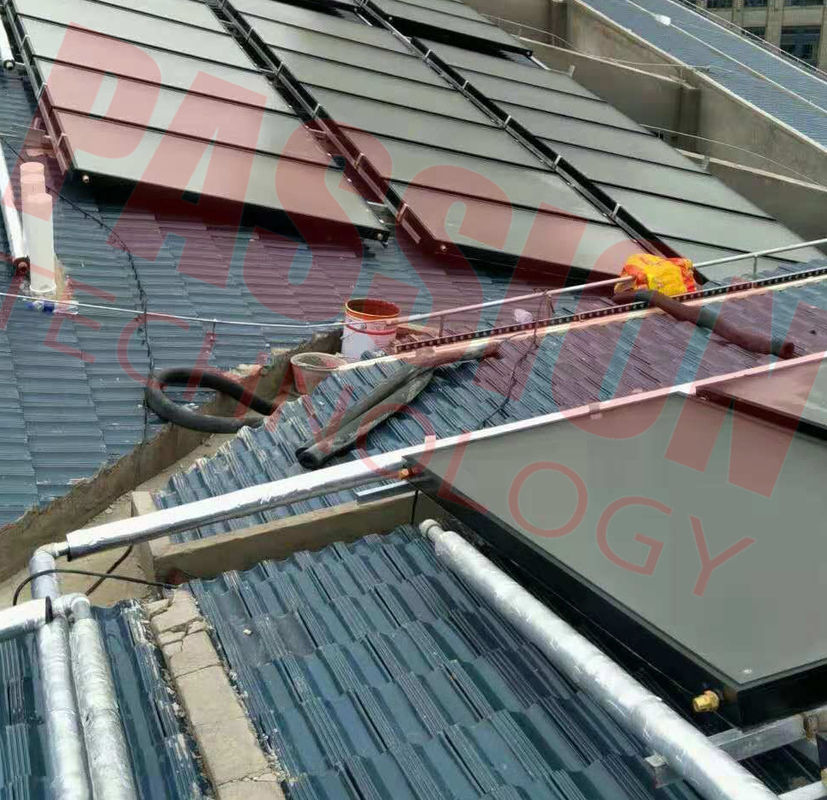 Solar Energy Rooftop Solar Energy Water Heater Flat Panel Solar Collector Red Copper